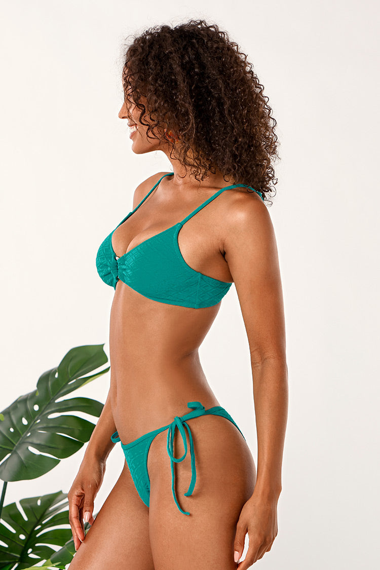 Bikini-Set mit O-Ring in Wasserblau Cupshe