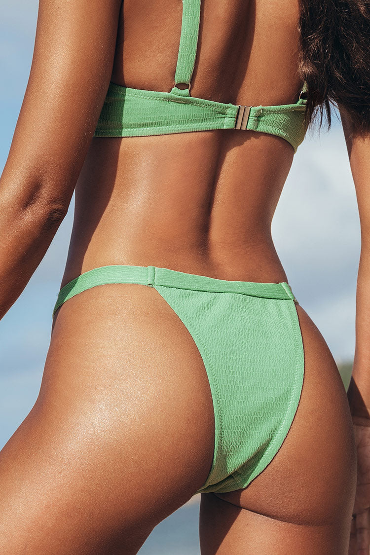 Tanga Bikini-Set mit Low Rise in hellgrün