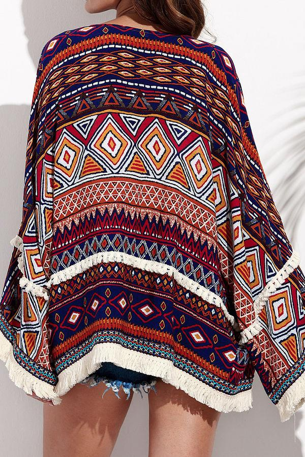 Fringe Trimm Boho kurzer Cover Up
