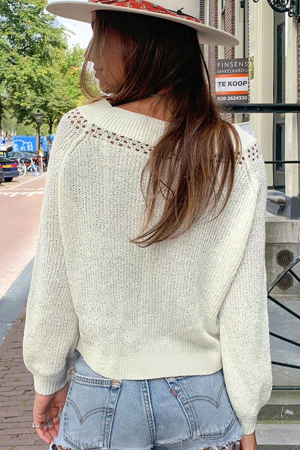 Chunky Schulter Sweater