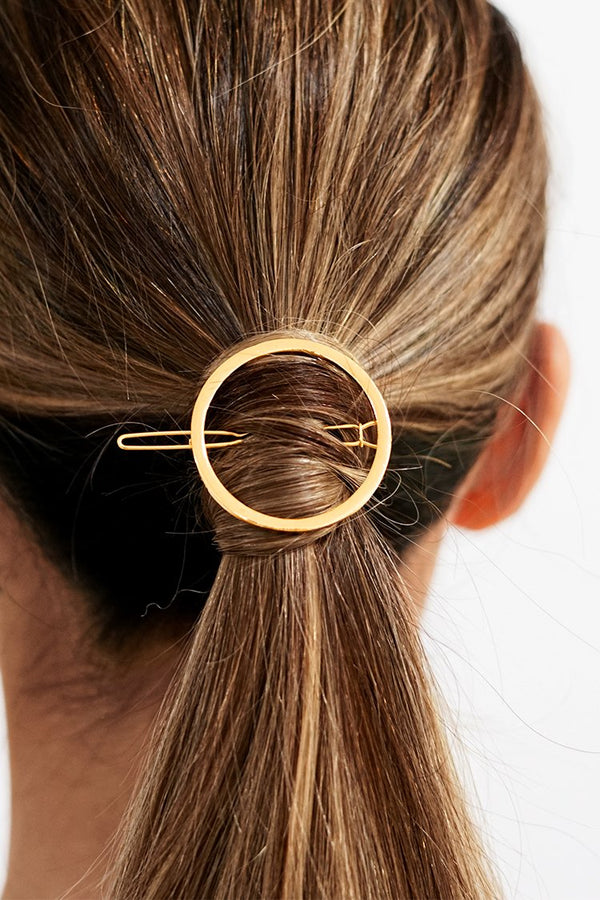 Gold Circle Haarspange
