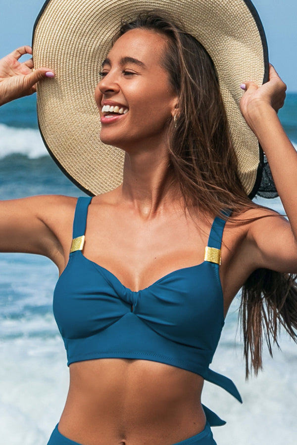 Twist Bikini-Oberteil in Blau
