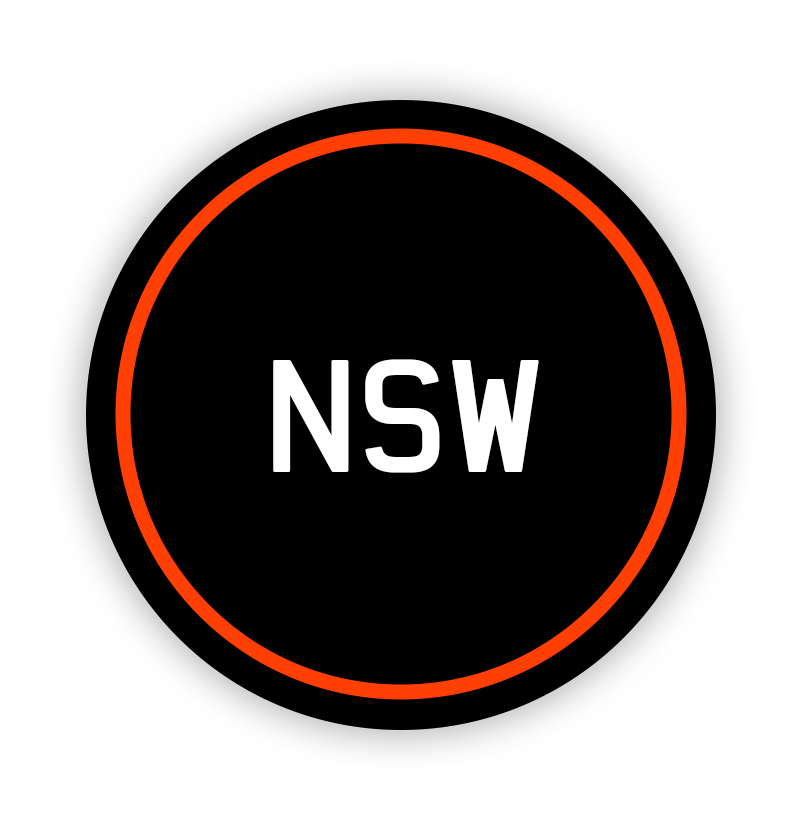 New South Wales 'NSW' Keychains