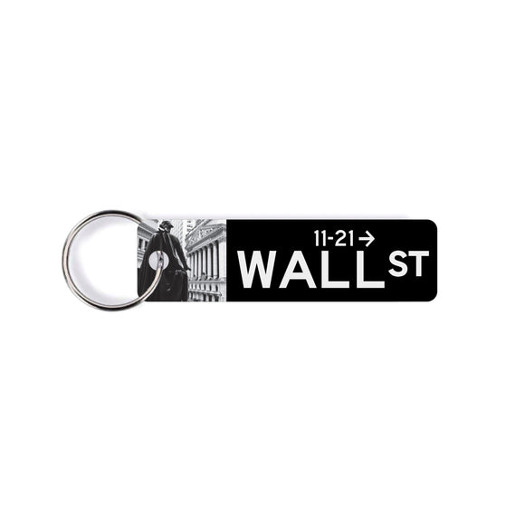 Wall Street, street sign Keychain