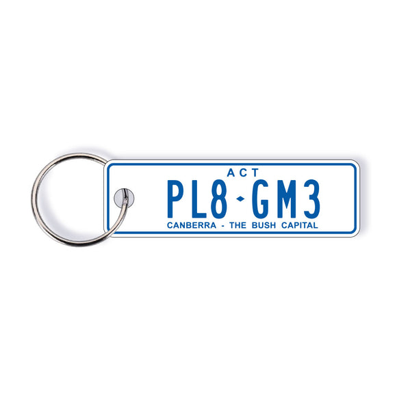 ACT General Issue Licence Plate Custom Keychain