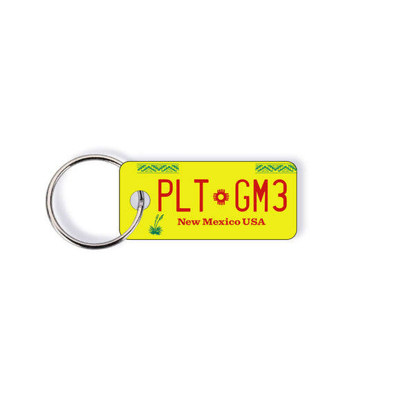 New Mexico NM State License Plate Custom Keychain