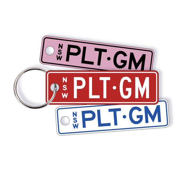 NSW Colour Licence Plate Custom Keychain