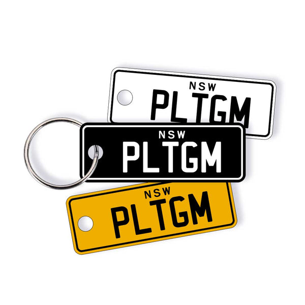 NSW Traditional Licence Plate Custom Keychain