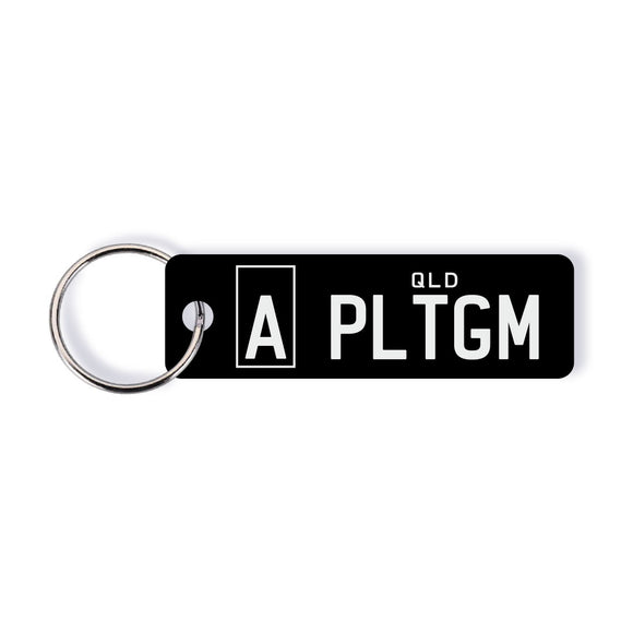 QLD A-plate Licence Plate Custom Keychain