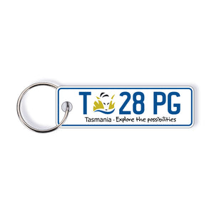 TAS General Issue Licence Plate Custom Keychain
