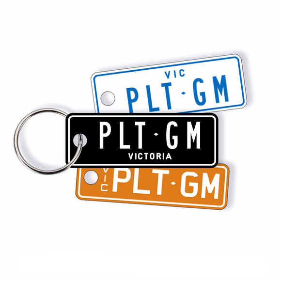 VIC Classic Licence Plate Custom Keychain