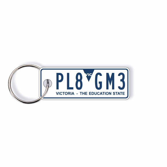 VIC General Issue Licence Plate Custom Keychain