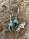 Opalized Wood Earrings