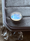 Rainbow Moonstone Ring | Size 7
