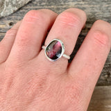 Rose Cut Watermelon Tourmaline Ring | Size 7.25
