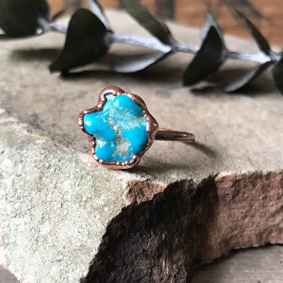 Morenci Turquoise Ring | Size 8