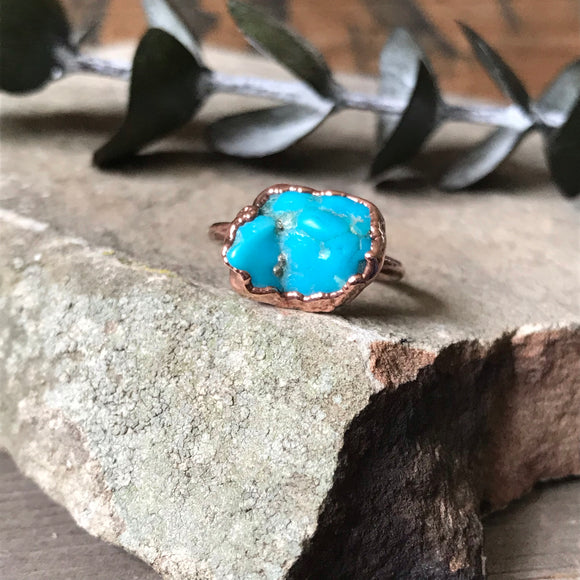 Morenci Turquoise Ring | Size 5