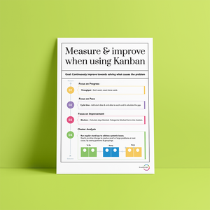 Measure and Improve when using Kanban Poster