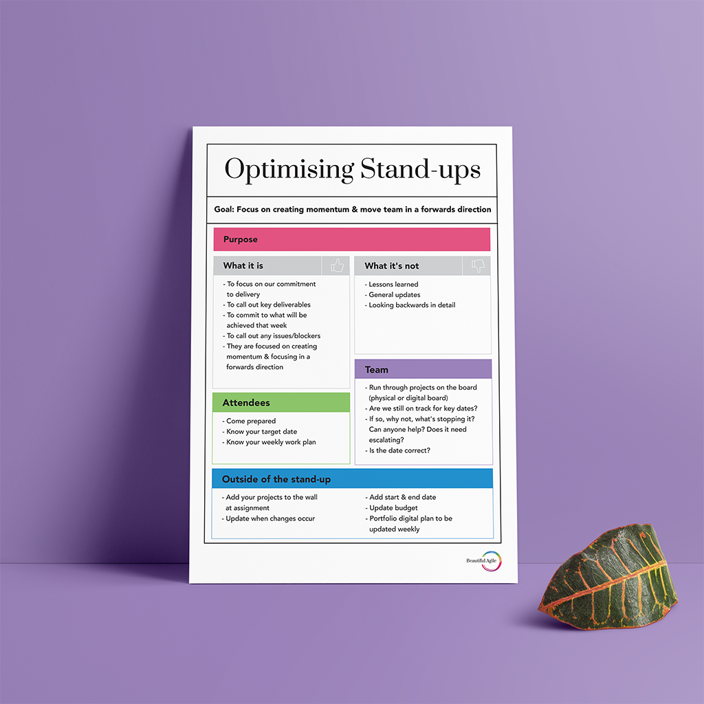 'Optimising Stand-ups' Poster