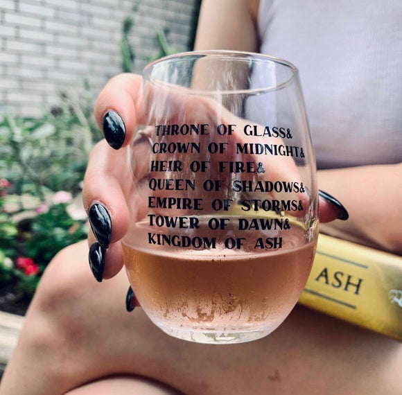 Throne of Glass Series Wine Glass