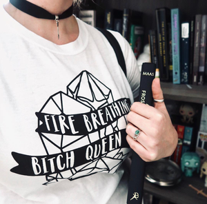 Fire Breathing Bitch Queen Tee