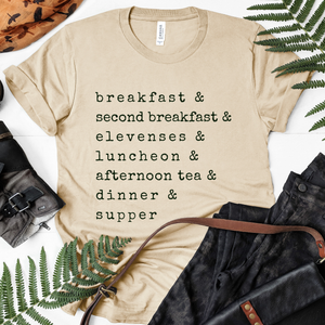 LOTR Hobbit Meals Ampersand Tee