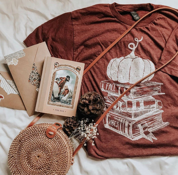 Bookish Fall Vibes tee