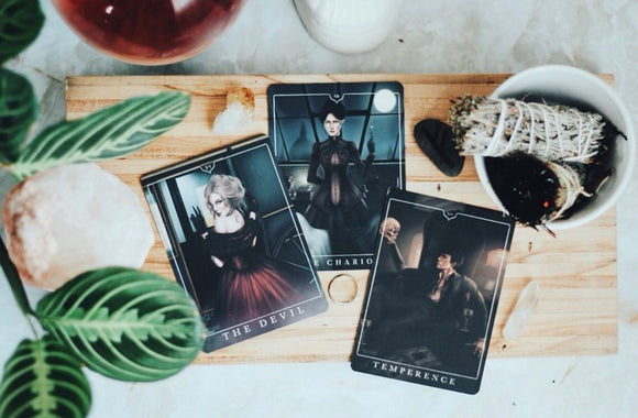 Perks:  The Devil, The Chariot, and the Temperance Collectable Tarot Card