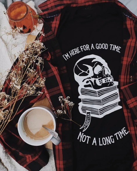 Novella: Here for a Good Time tee