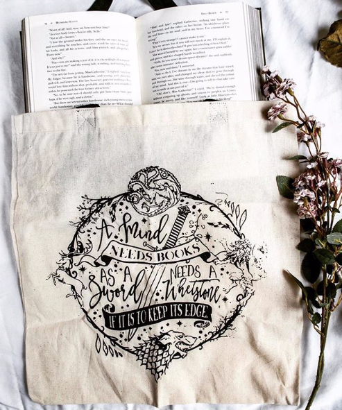 A Mind Needs a Book Tote Bag