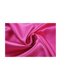 Women Satin Lace Trim Sleepwear Nightgown Pajama Slip Dress Fuchsia-Lace