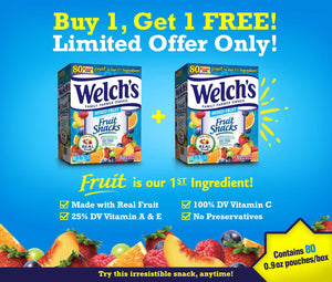 BUY 1 TAKE 1: Welch Snacks 0.9oz  (80 ct)