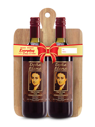 Doña Elena Red Dry Wine with Free Cheese Board