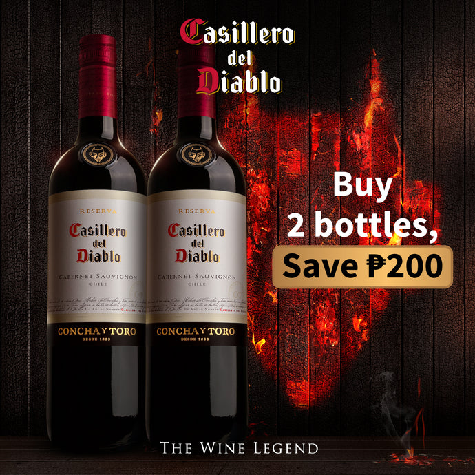 Casillero del Diablo Cabernet Sauvignon Red 2x 750mL Save P200