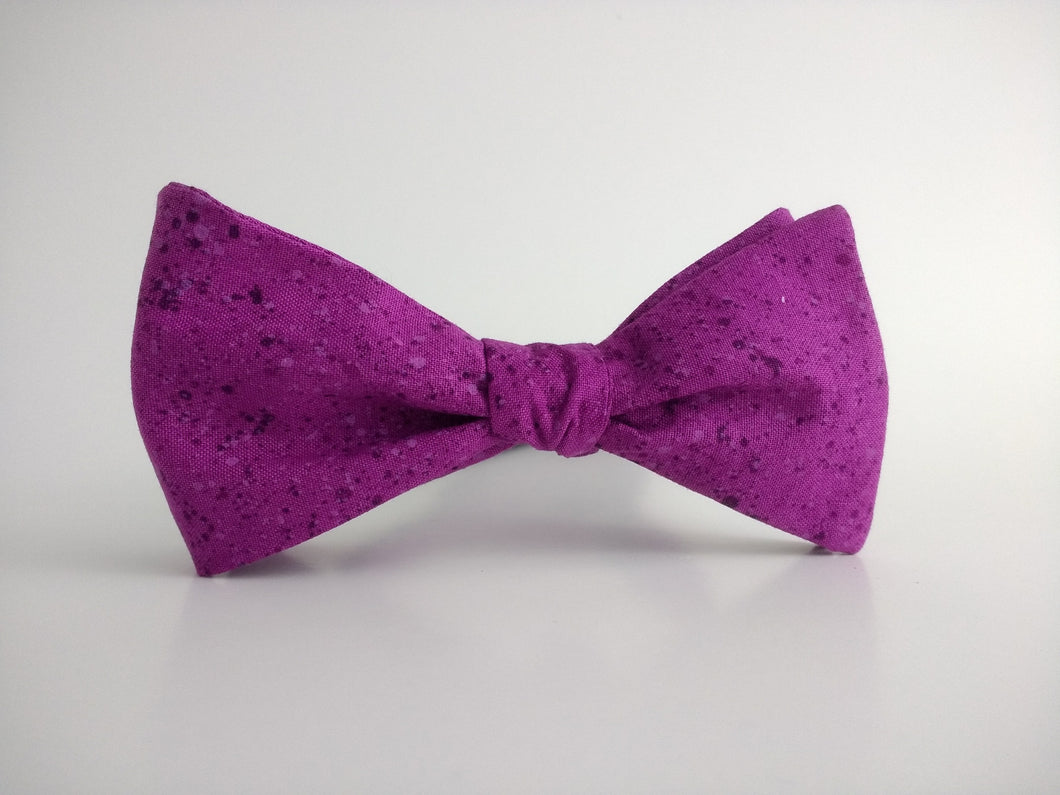Splatter Texture purple Bowtie