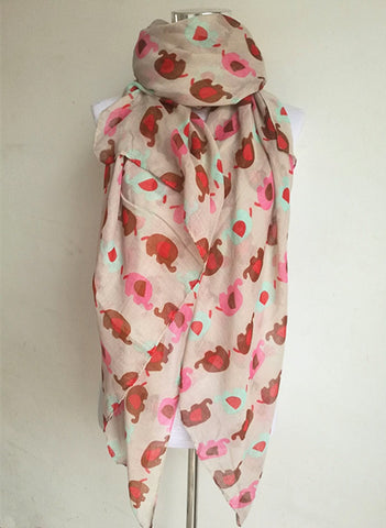 Cute Elephant Fashion Scarf