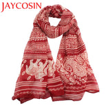 Crimson Red Elephant Supporter Fashion Scarf