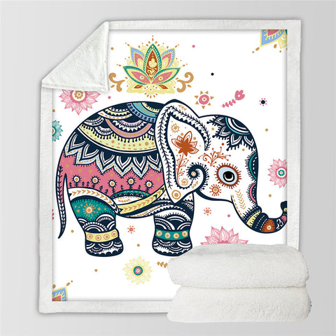 blanket - elephant shirt