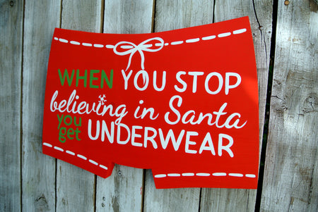 funny Christmas wood sign. Holiday decor