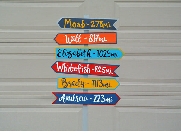 Family Reunion Yard Sign. Directional wood sign personalized