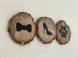 wooden key hooks dog lovers