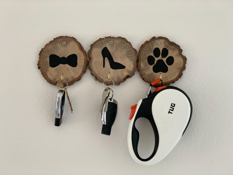 key holder for wall wood