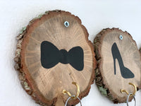 Wall Key holder wood, Dog lover gift key hook. Mustache and Lips Funny wooden signs