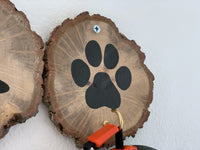 dog leash holder wood