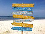 Beach House Decor, Directional Garden/Yard Sign, Rustic Destination Location Wood Sign-iDecor4you