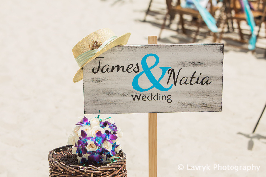 Beach Wedding Decor, Name Wedding Beach Sign, Rustic wooden wedding sign-iDecor4you