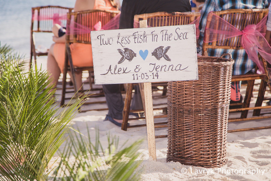 Beach Wedding Rustic sign, Two Less Fish In The Sea Wood wedding decor gift for couple-iDecor4you
