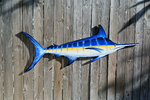Big Blue Marlin Fish wood decor. Custom Original gift for him. Man cave decor. Fisherman Gift idea.-iDecor4you