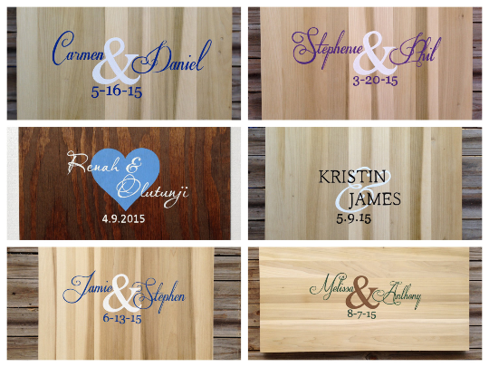 Rustic Wedding Guestbook Alternative with Matching Pen. Wedding gift idea, Wooden signature board-iDecor4you
