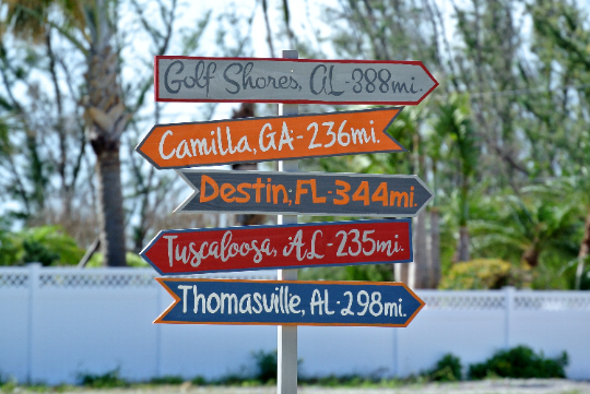 Directional Arrow Wood Garden Decor, Destination Location Mileage Rustic Sign, Unique Gift for Husband idea.-iDecor4you